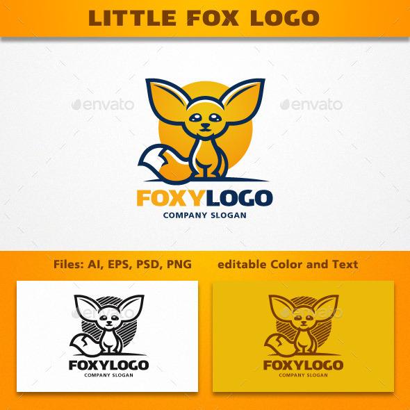 Little Fox Logo - Animals Logo Templates
