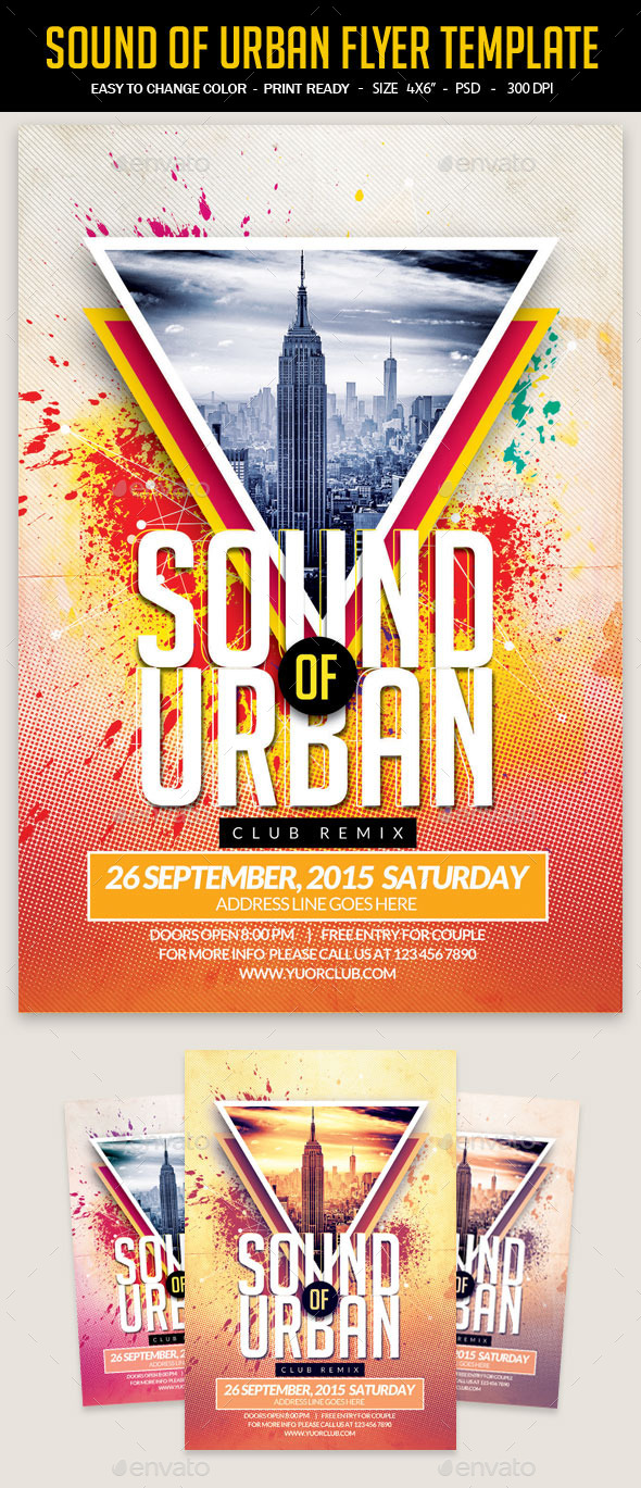 Sound Of Urban Flyer Template - Clubs & Parties Events
