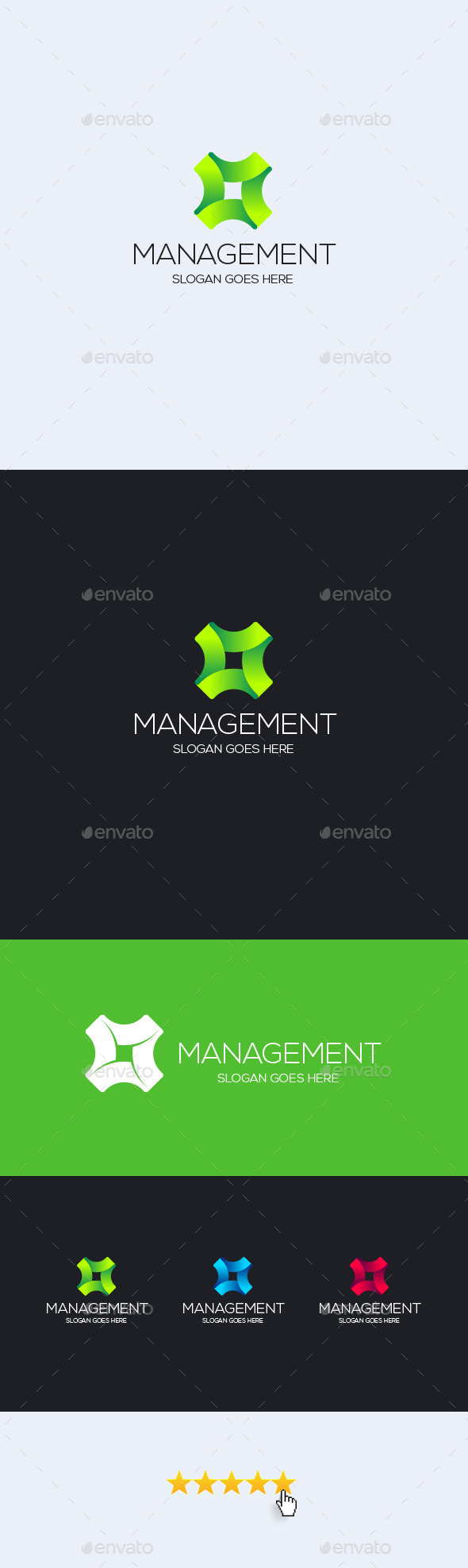 Management Logo Template - Vector Abstract