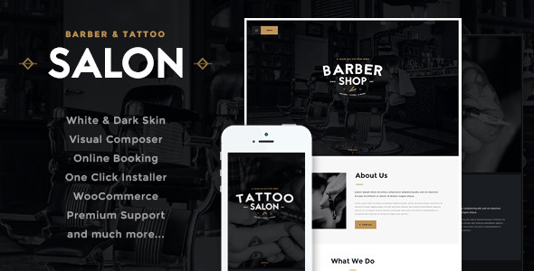 Salon | Barbershop & Tatoo WordPress Theme - Health & Beauty Retail