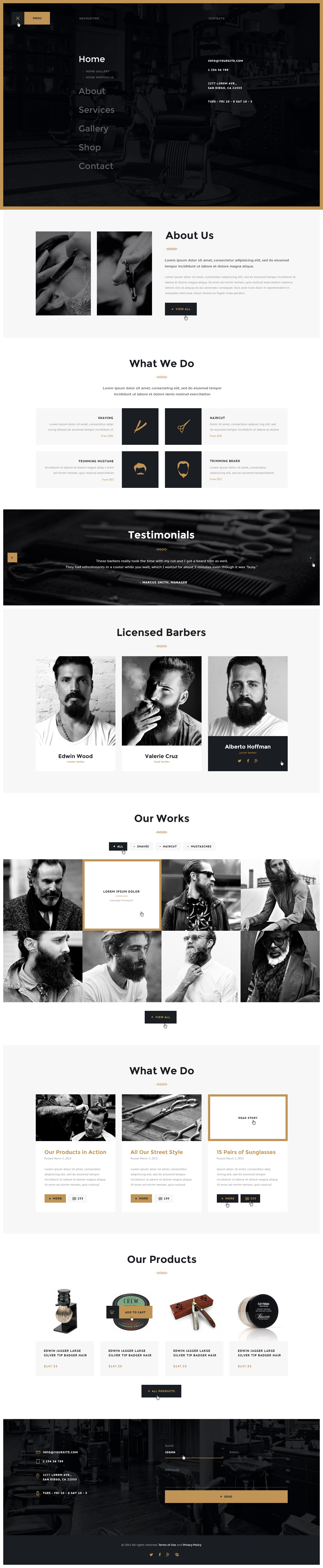 Salon | Barbershop & Tatoo WordPress Theme by axiomthemes ...