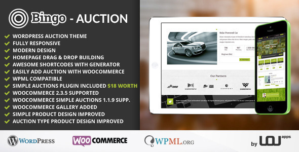 Bingo – Auction WordPress Theme