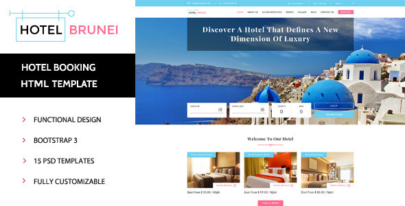 Hotel Brunei – Responsive Hotel Booking Template