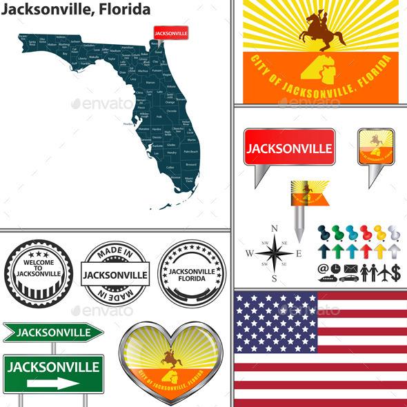 Jacksonville, Florida - Travel Conceptual