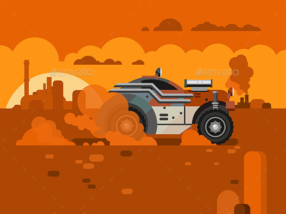 Driving Fast Retro Car Through Desert - Man-made Objects Objects