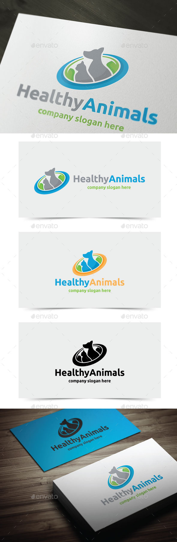 Healthy Animals - Animals Logo Templates