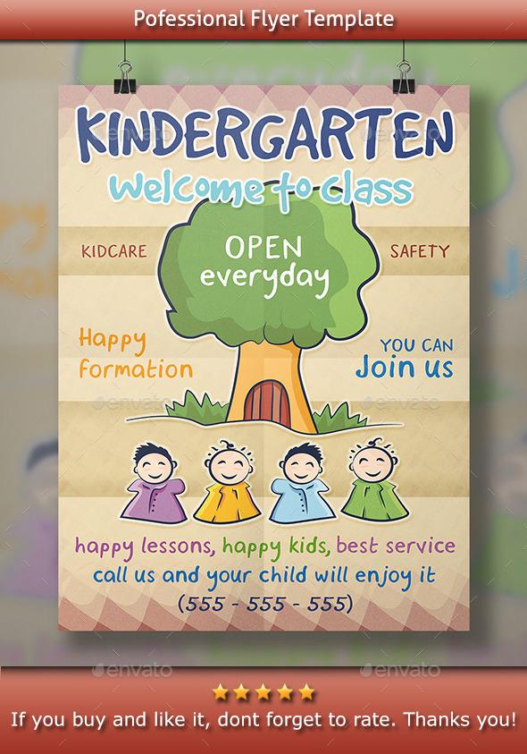 Kindergarten Flyer - Corporate Flyers