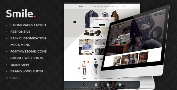Smile – HTML E-commerce Template