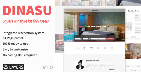 Dinasu – LayersWP Style Kit for Hotels - CodeCanyon Item for Sale