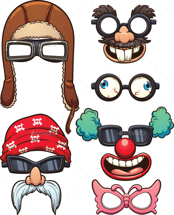 Funny Glasses - Man-made Objects Objects