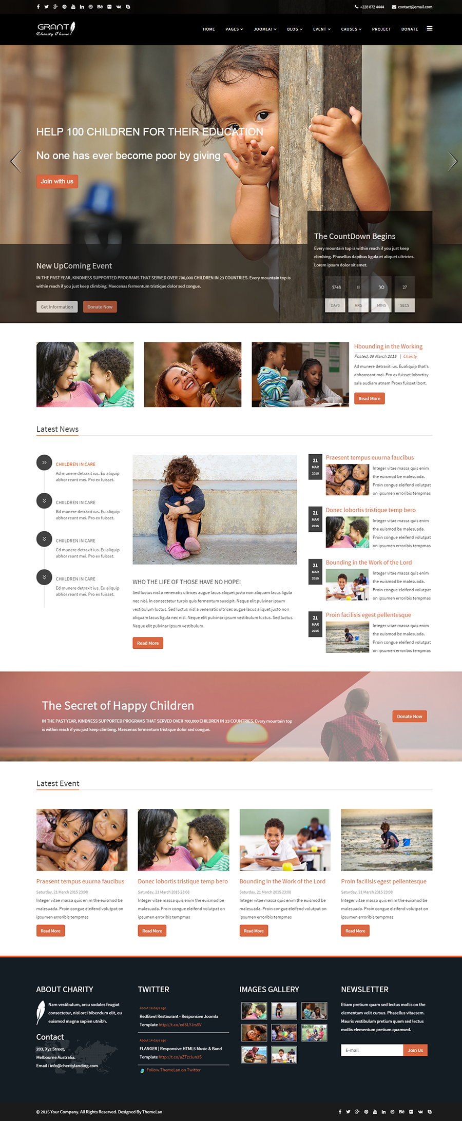 Superior Grant   Charity / Nonprofit / NGO HTML5 Template Within Ngo Templates