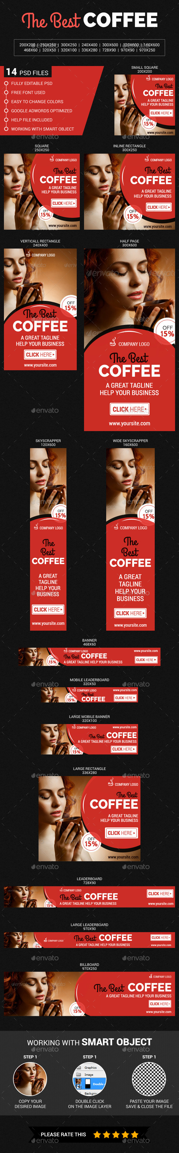 The Coffee - Banners & Ads Web Elements