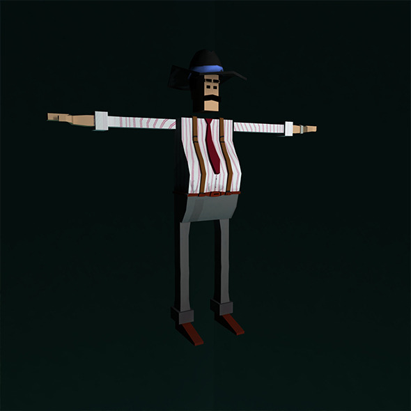 "Low Poly Character Rigged ""Boss"" - 3DOcean Item for Sale"