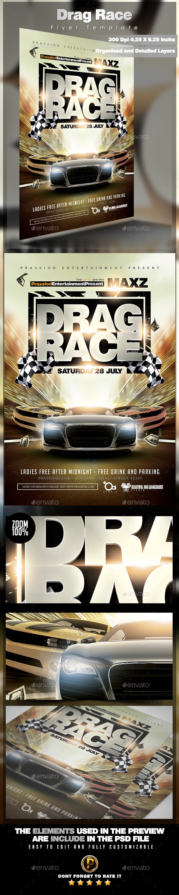 Drag Race Flyer Template - Miscellaneous Events