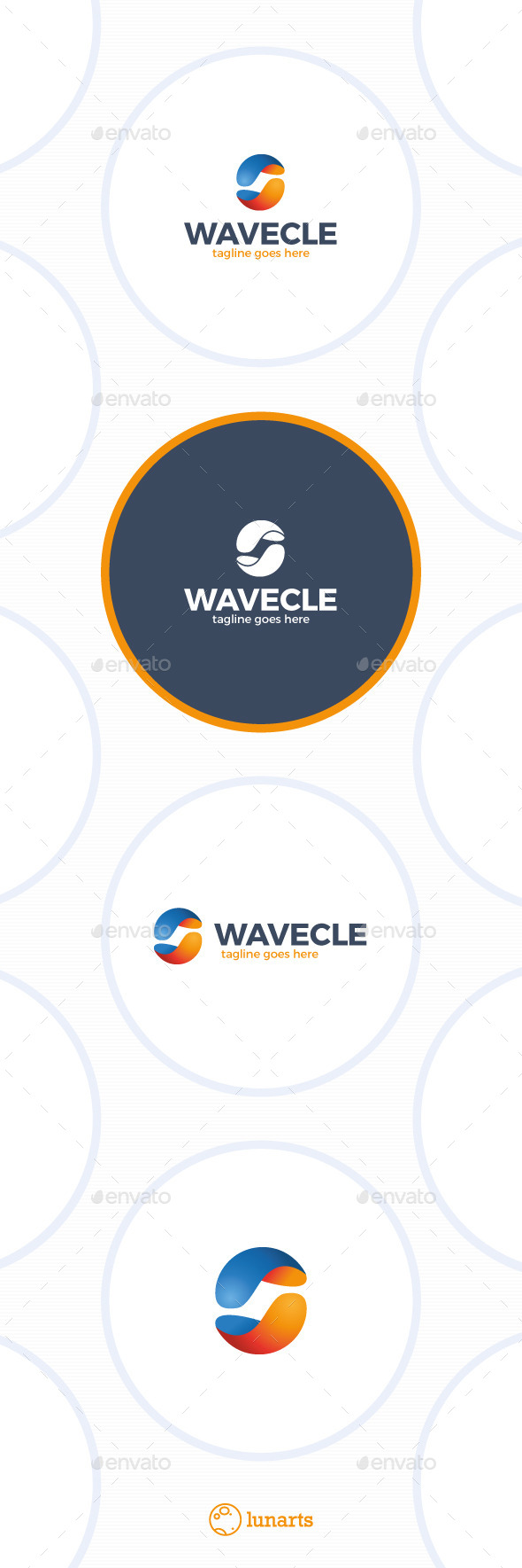 Media Wave Logo - Circle - Abstract Logo Templates