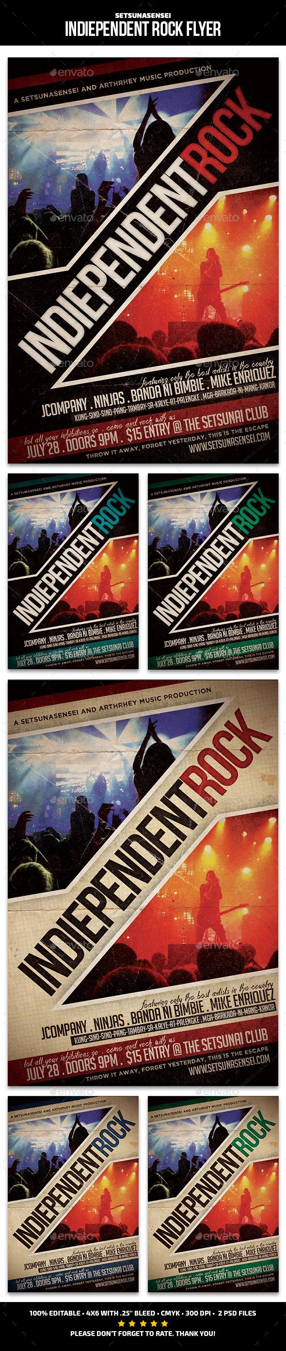 Indiependent Rock Flyer - Concerts Events