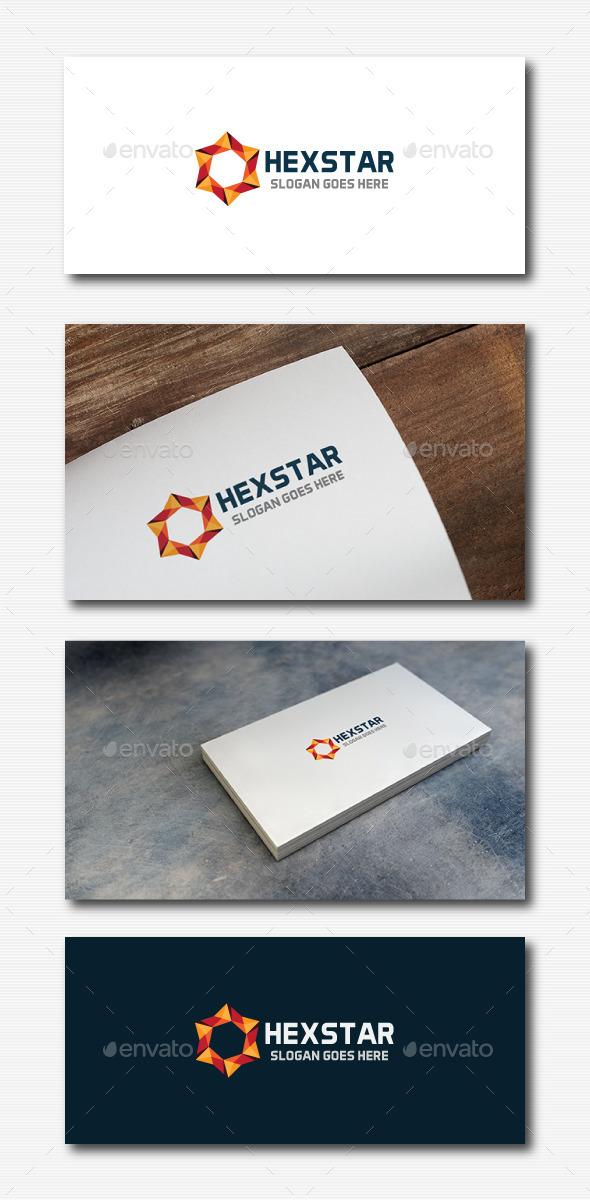 Hexagon Star Logo - Abstract Logo Templates