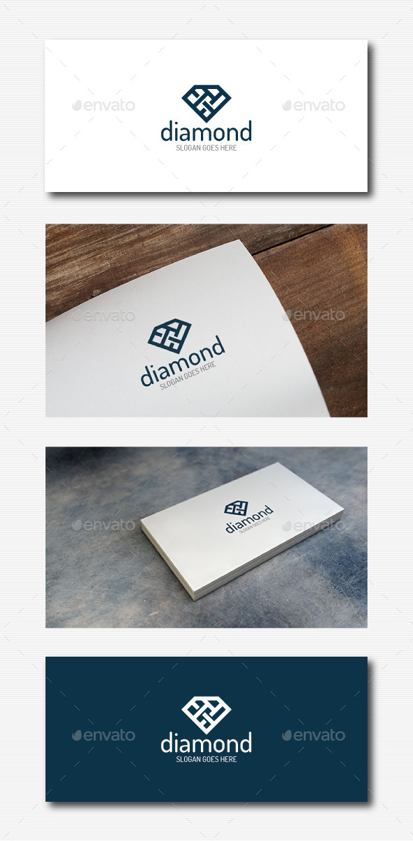 Stylish Diamond Logo - Abstract Logo Templates