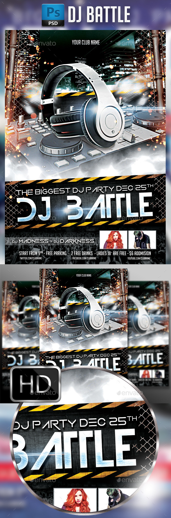 DJ Battle Party - Events Flyers