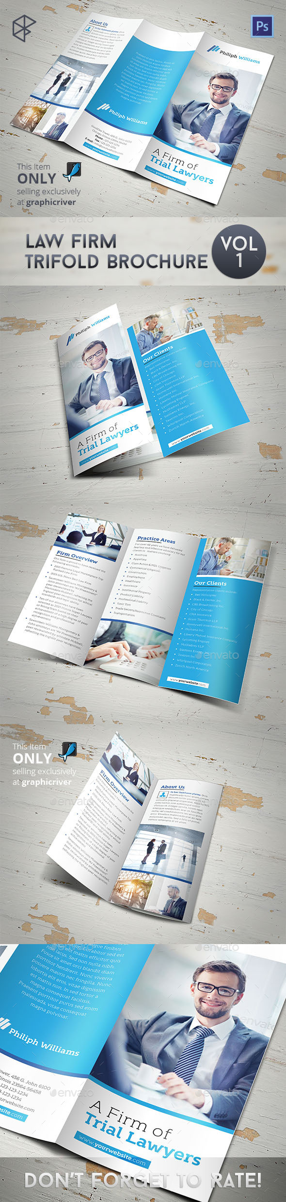 Law Firm Trifold Brochure - Corporate Brochures