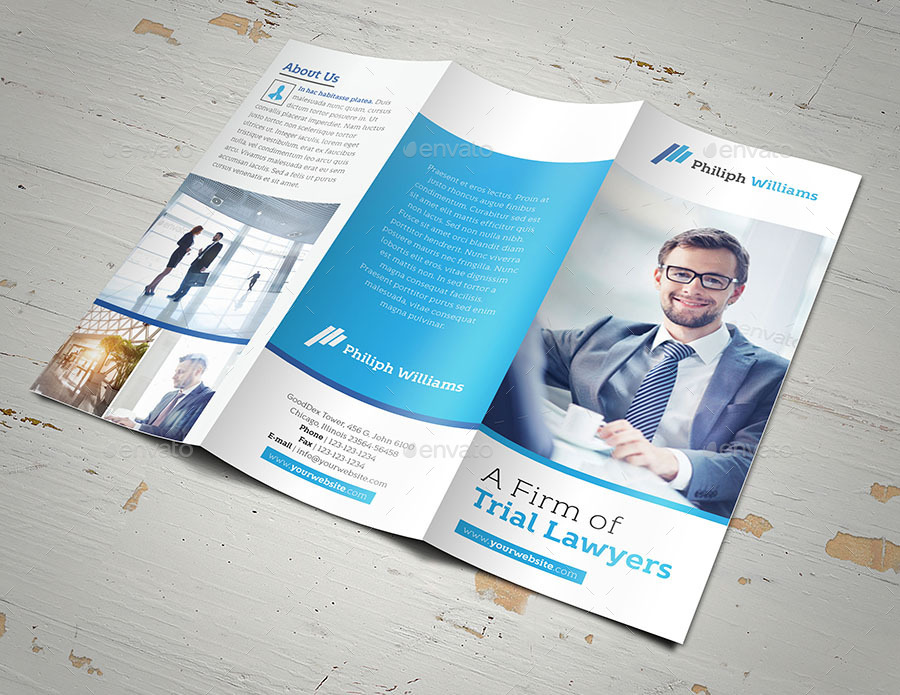 Law Firm Trifold Brochure By Fathurfateh  Graphicriver