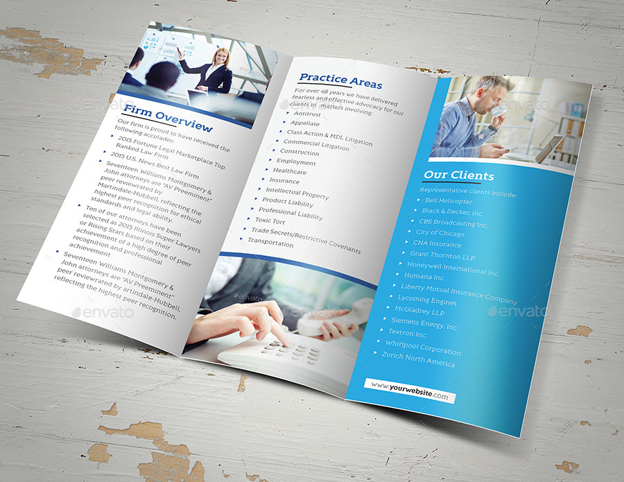 Law Firm Trifold Brochure By Fathurfateh | Graphicriver