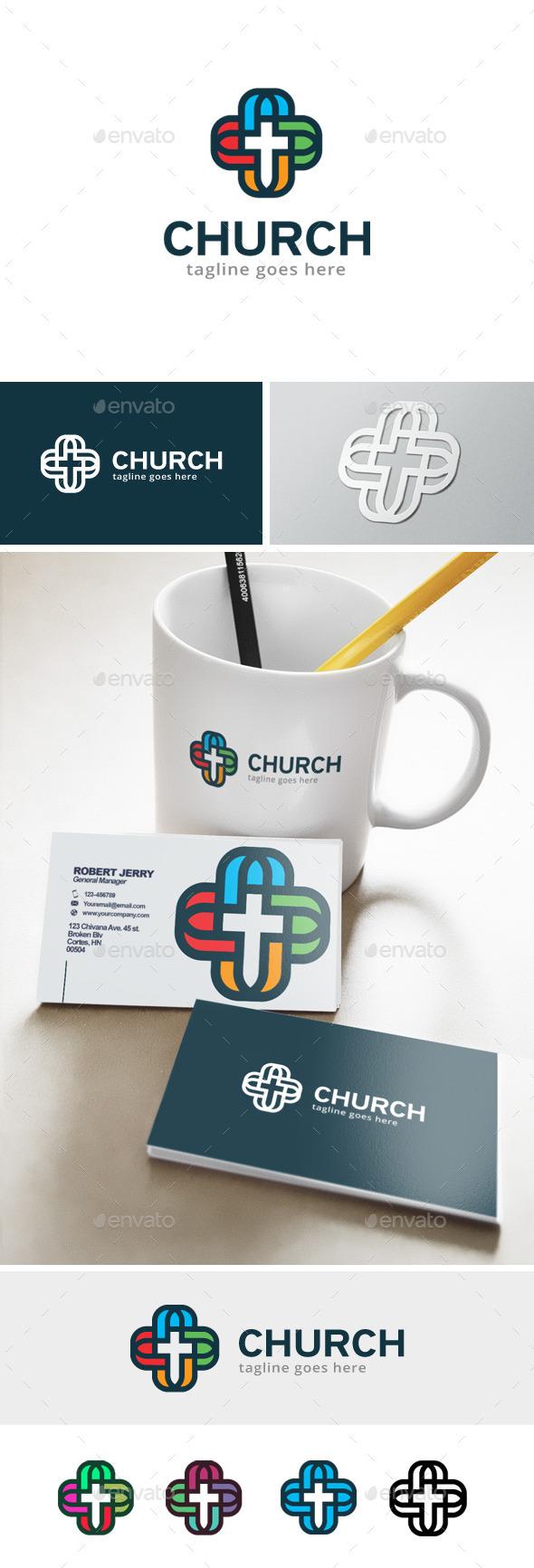 Church Logo - Objects Logo Templates