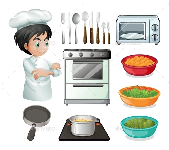 Chef and Utensil - People Characters