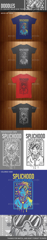 Splichood T-Shirt Template - Grunge Designs