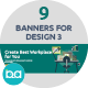 Flat Concept Banners for Design 3 - GraphicRiver Item for Sale
