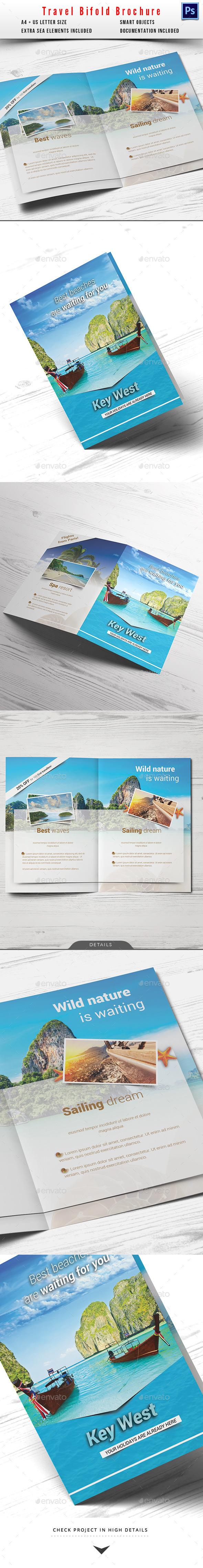 Travel / Holiday Bifold Brochure - Informational Brochures