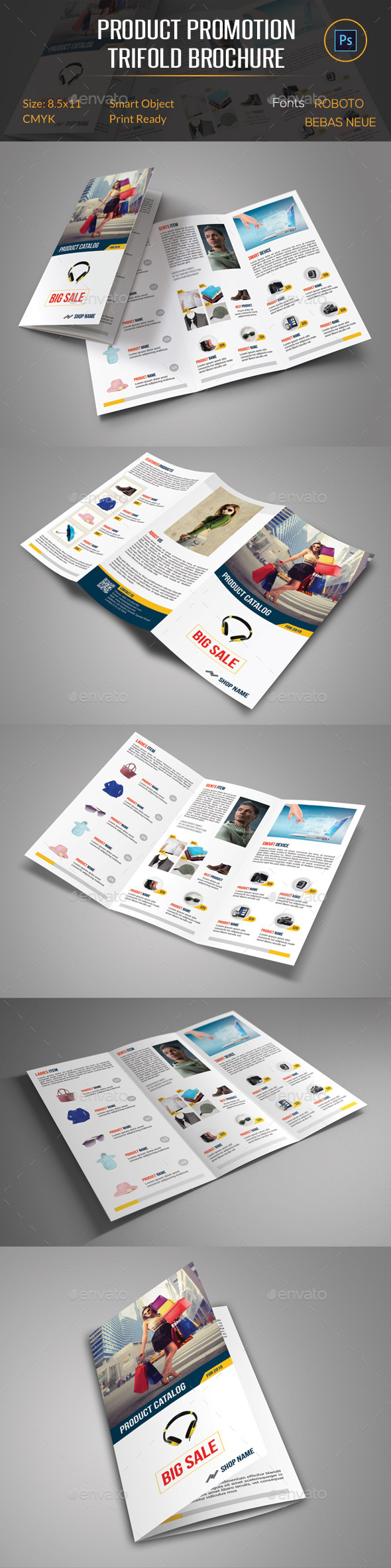 Product Promotion Trifold Brochure - Catalogs Brochures