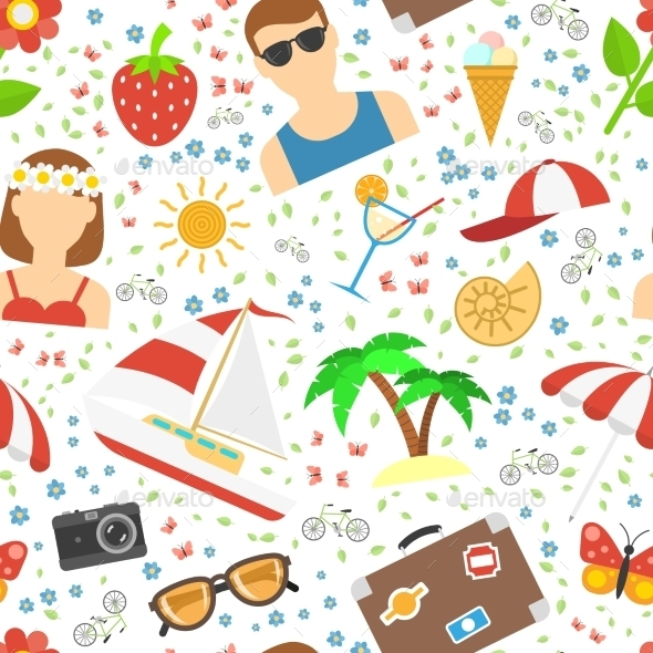 Summer And Vacation Background - Backgrounds Decorative