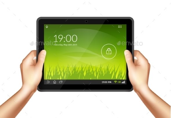 Hand With Tablet - Communications Technology