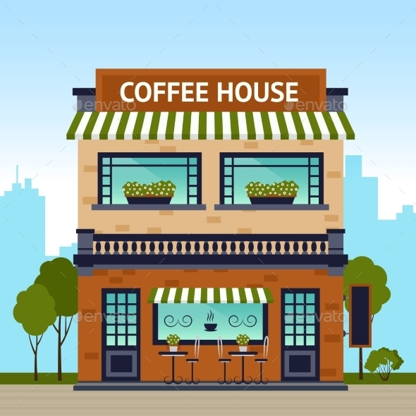 Coffee House Building - Buildings Objects