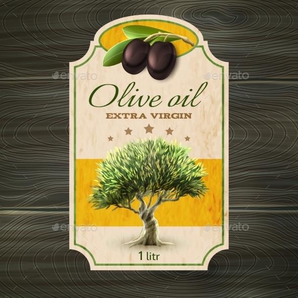 OLive Oil Label Print - Decorative Vectors