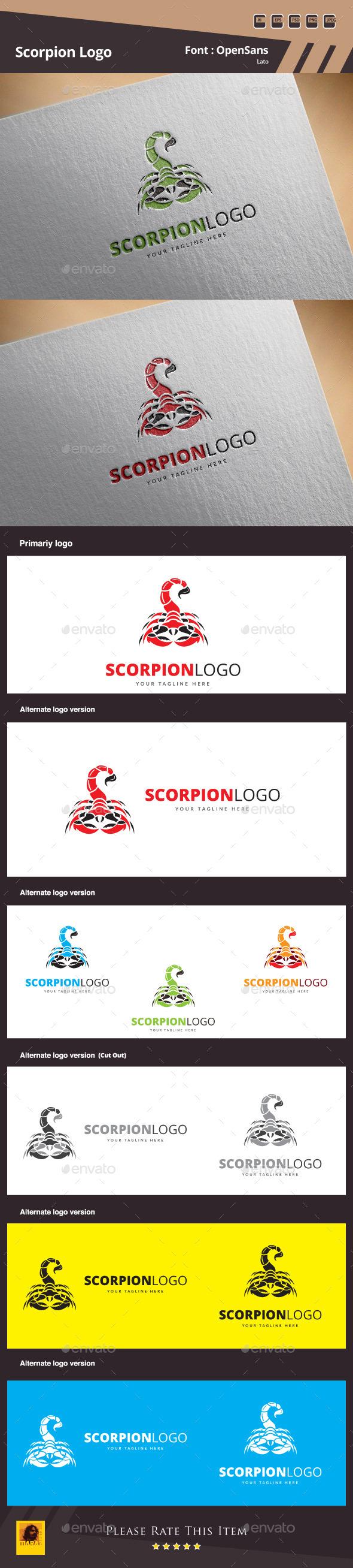 Scorpion Logo Template - Animals Logo Templates