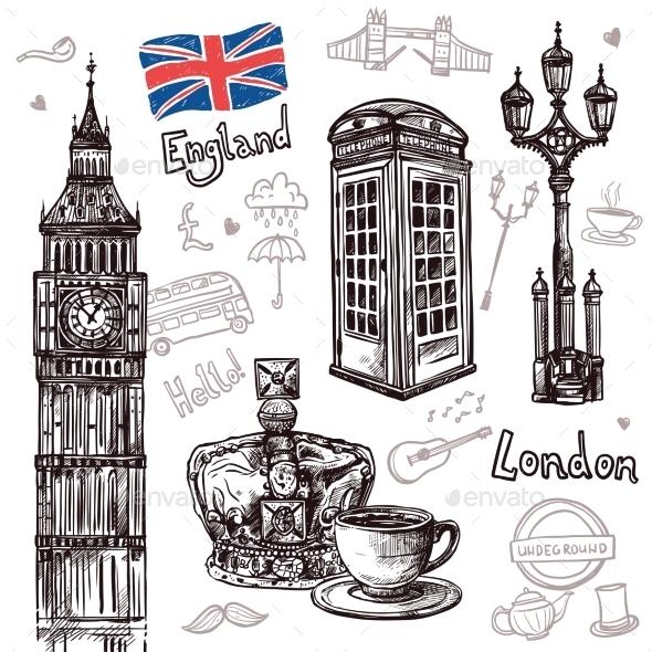 London Sketch Set - Travel Conceptual