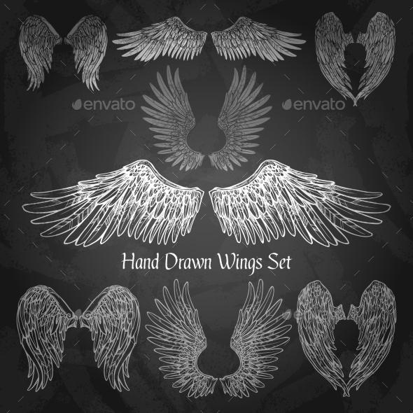 Wings Chalkboard Set - Animals Characters