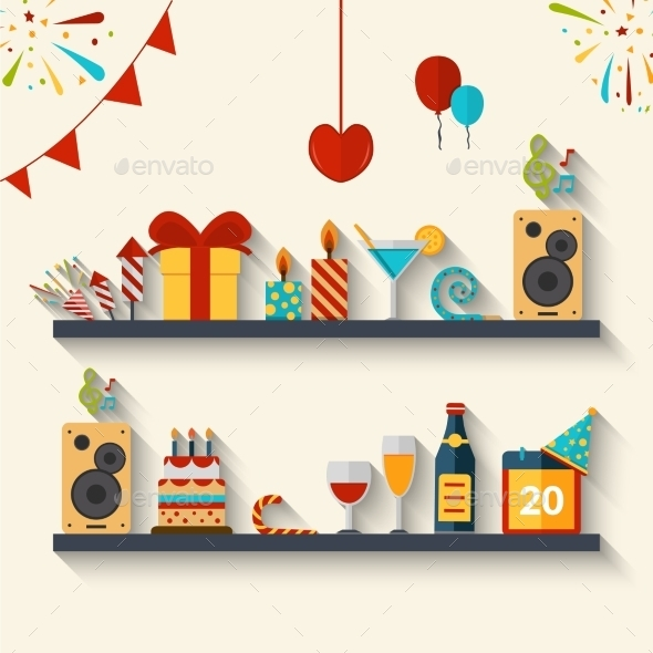 Celebration Concept Flat - Miscellaneous Vectors