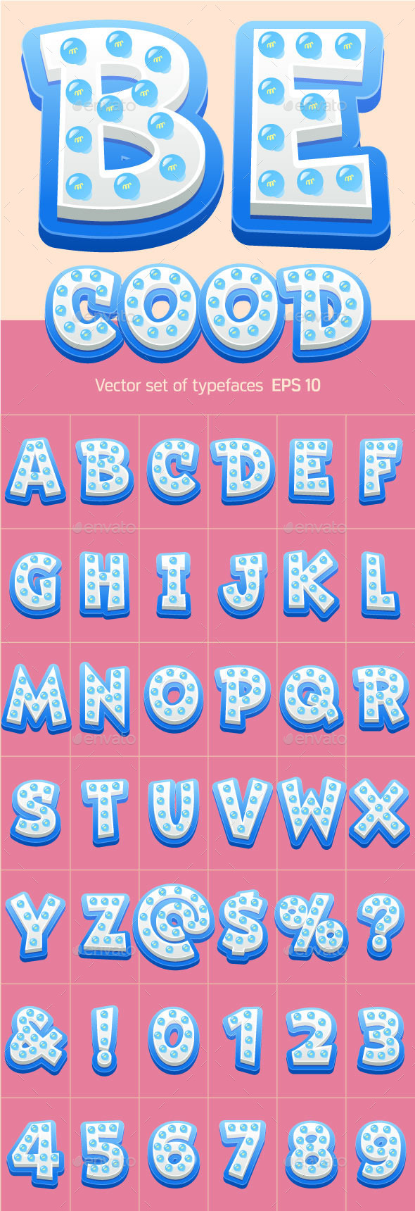 Vector Lamp Alphabet - Decorative Symbols Decorative