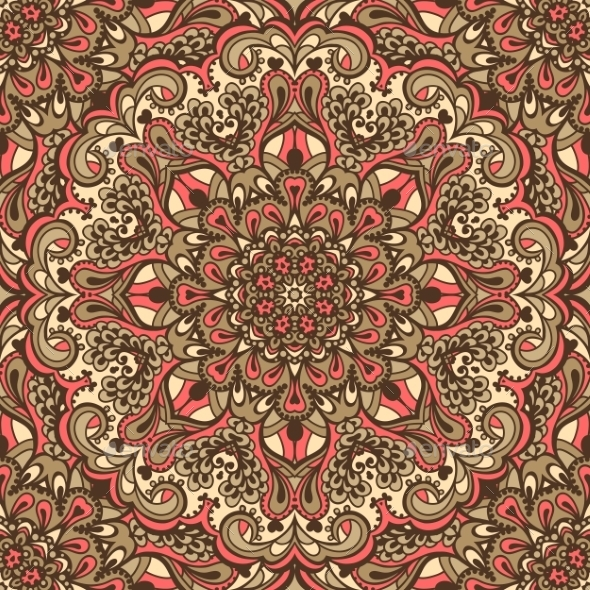 Oriental Ornate Seamless Pattern. - Backgrounds Decorative