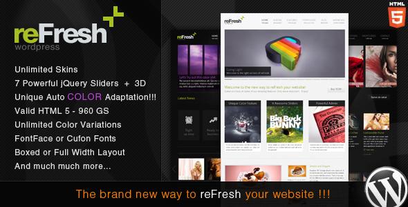 Free Download reFresh - Powerful Clean & Elegant WordPress Theme Nulled Latest Version