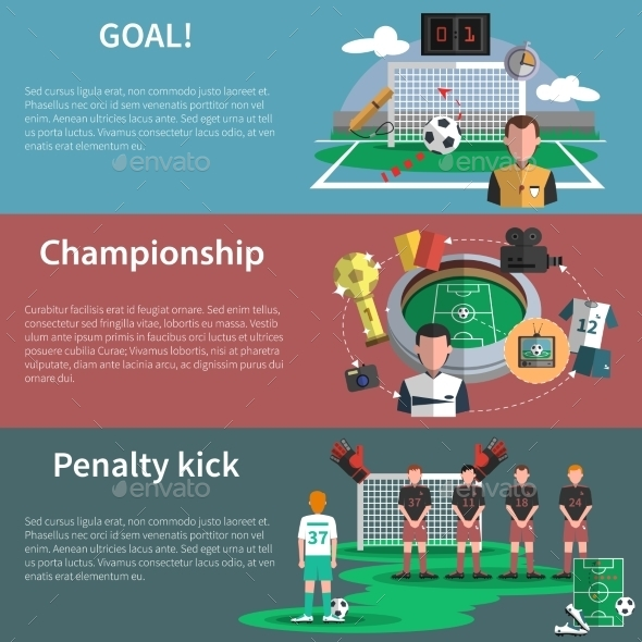 Soccer Sport Banners Set - Sports/Activity Conceptual