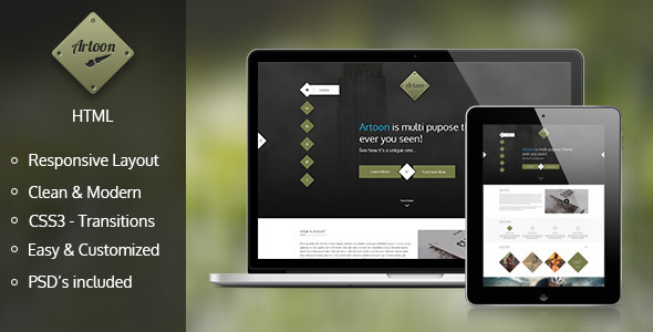Artoon – One Page HTML Template