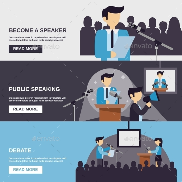 Public Speaking Banner - Business Conceptual