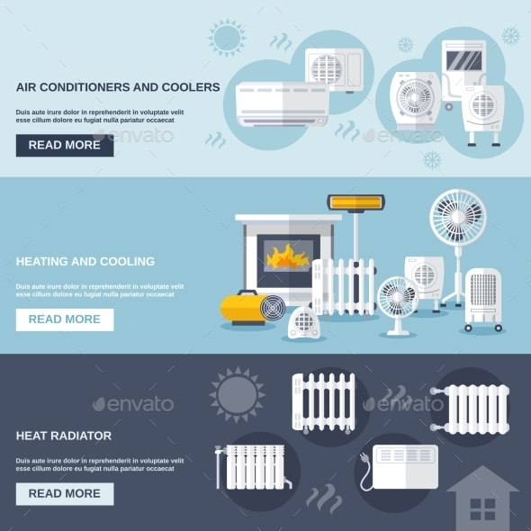 Heating And Cooling Banner - Technology Conceptual