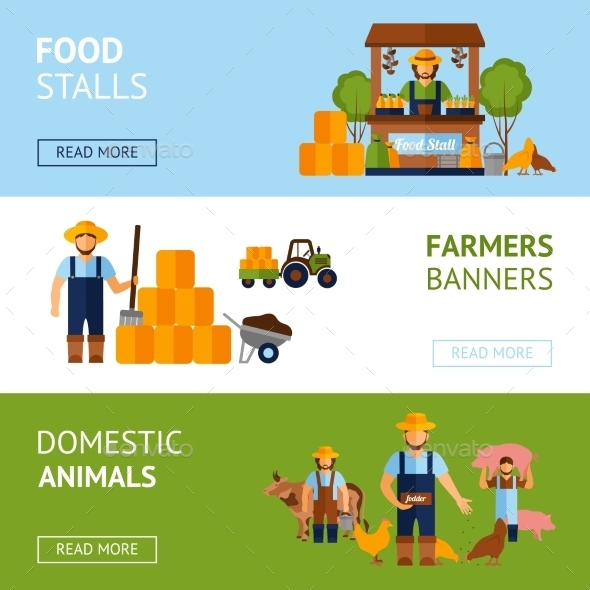 Farmers Banner Set - Industries Business