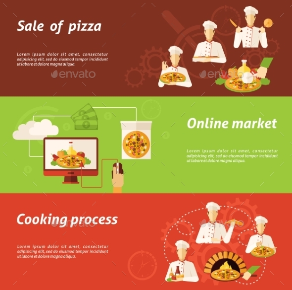 Pizza Sale And Cooking Banner - Food Objects