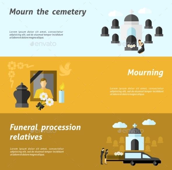 Funeral Banner Set - Miscellaneous Vectors
